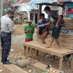 Patroli Polsek Tellulimpoe Polres Sinjai Kembali Edukasi Masyarakat Taat Prokes 3M di Beberapa Titik